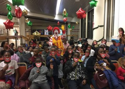 Children and Parents from Bronzeville Have Dinner With Santa